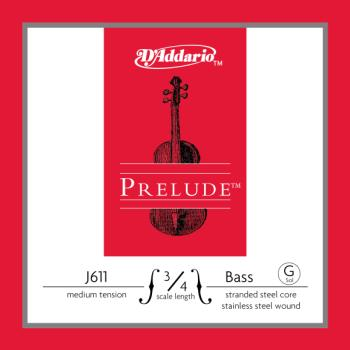 D'Addario Prelude Bass Single G String, 3/4 Scale, Medium Tension