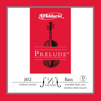 D'Addario Prelude Bass Single D String, 1/2 Scale, Medium Tension J61212M