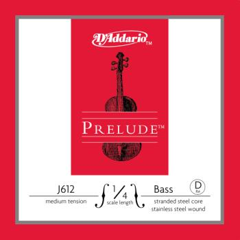 D'Addario Prelude Bass Single D String, 1/4 Scale, Medium Tension J61214M