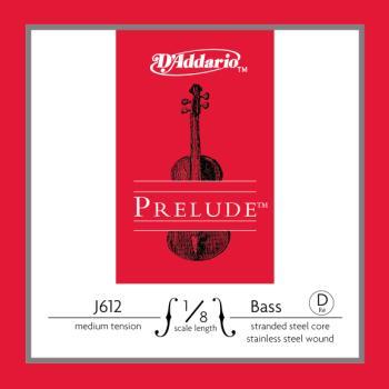D'Addario Prelude 1/8 Bass Single D String Medium Tension J61218M