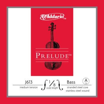 D'Addario Prelude Bass Single A String, 1/8 Scale, Medium Tension