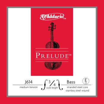 D'Addario Prelude Bass Single E String, 3/4 Scale, Medium Tension