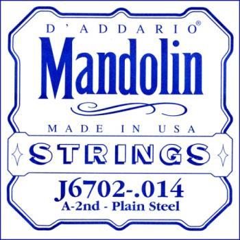 D'Addario J6702 Nickel Mandolin Single String, .014