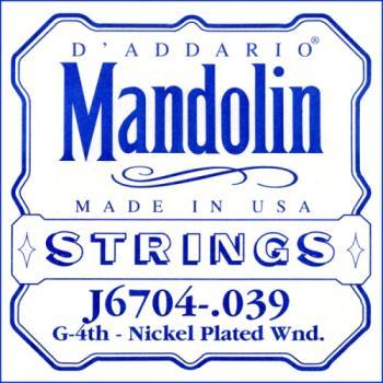 D'Addario J6704 Nickel Mandolin Single String, .039