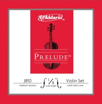 D'Addario Bow J81018M D'Addario Prelude Violin String Set, 1/8 Scale, Medium Tension