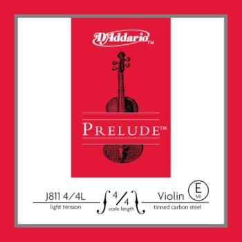 D'Addario D'Addario Prelude Violin Single E String, 4/4 Scale, Light Tension