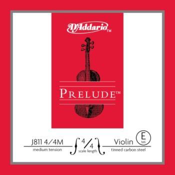D'Addario J81144M Prelude Violin Single E String, 4/4 Scale, Medium Tension