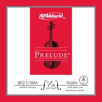 D'Addario J812116M Prelude Violin Single A String, 1/16 Scale, Medium Tension