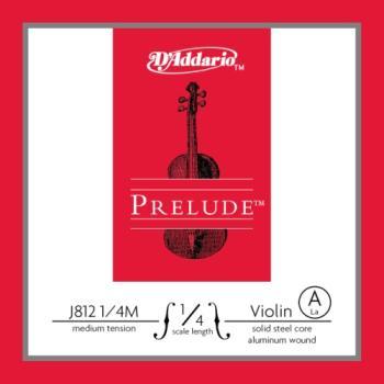 D'Addario Prelude Violin Single A String, 1/4 Scale, Medium Tension