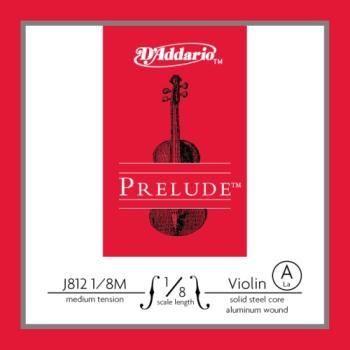 D'Addario D'Addario Prelude Violin Single A String, 1/8 Scale, Medium Tension