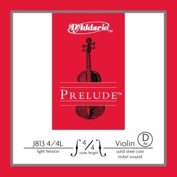 D'Addario D'Addario Prelude Violin Single D String, 4/4 Scale, Light Tension