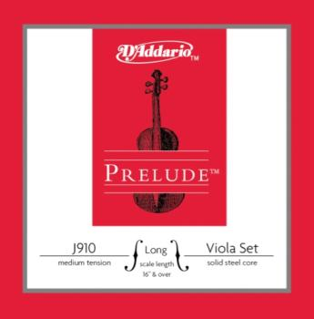 D'Addario Bow J910LM D'Addario Prelude Viola String Set, Long Scale, Medium Tension