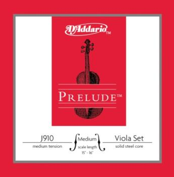 D'Addario Prelude Medium Viola String Set Medium Tension J910MM