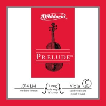 D'Addario Bow J914LM Prelude Viola Single C String, Long Scale, Medium Tension