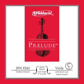 D'Addario Prelude Extra Short Viola Single C String Medium Tension J914XSM
