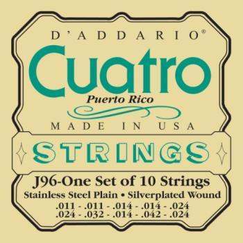 D'Addario J96 Puerto Rico Cuatro String Set