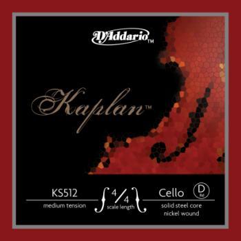 Kaplan 4/4 Medium Solid Steel Nickel Wound Cello D String