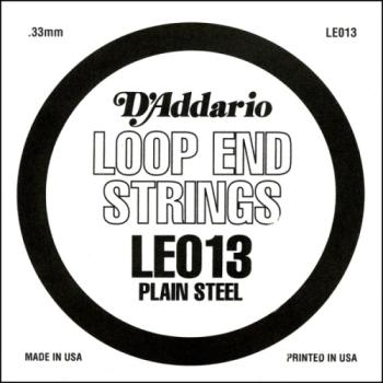 D'Addario LE013 Plain Steel Loop End Single String, .013