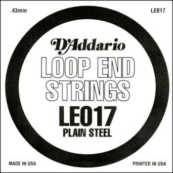 D'Addario LE017 Plain Steel Loop End Single String, .017