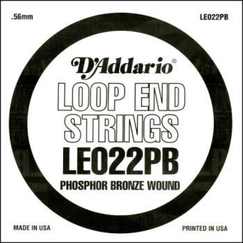 D'Addario LE022PB Phosphor Bronze Loop End Single String, .022