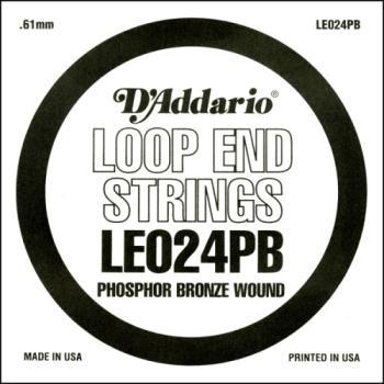 D'Addario LE024PB Phosphor Bronze Loop End Single String, .024