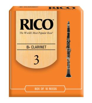 Rico by D'Addario Bb Clarinet Reeds 3 10 Pack RCA1030