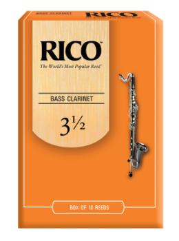 Rico by D'Addario Bass Clarinet Reeds 3.5 10 Pack REA1035