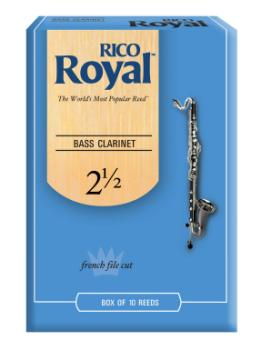 Royal by Daddario REB1025 Bass Clarinet Reeds, Strength 2.5, 10 Pack