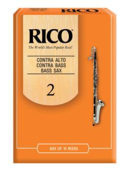 Rico Contrabass Clarinet Reeds Strength 2 Box of 10