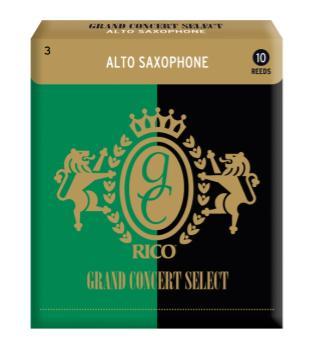 RGCSAS3 Rico Grand Concert Select Alto Sax Reeds, Strength 3 0, 10 pack