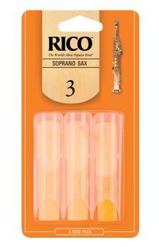 Rico by D'Addario Soprano Sax Reeds 3 3 Pack RIA0330