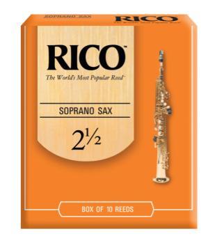 Rico by D'Addario Soprano Sax Reeds, Strength 2.5, 10-pack RIA1025