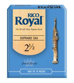Rico Royal RRSS2H Royal by D'Addario Soprano Sax Reeds, Strength 2.5, 10-pack