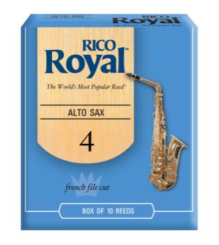 Rico RJB1040 Royal by D'Addario Alto Sax Reeds, Strength 4, 10-pack