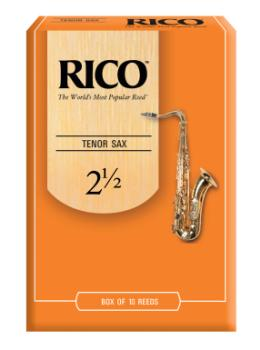 RKA1025 Rico by D'Addario Tenor Sax Reeds, Strength 2.5, 10-pack