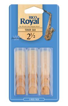 Royal by D'Addario Tenor Sax Reeds 2.5 3 Pack RKB0325