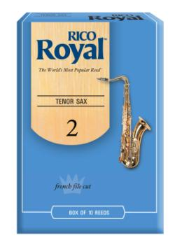 Rico RKB1020 Royal by D'Addario Tenor Sax Reeds, Strength 2, 10-pack