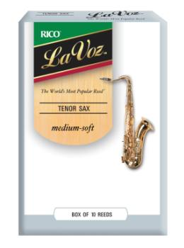 La Voz Tenor Sax Reeds, Strength Medium-Soft, Single Reed