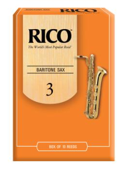 RLA1030 Rico by D'Addario Baritone Sax Reeds, Strength 3, 10-pack