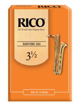 Rico by D'Addario Baritone Sax Reeds, Strength 3.5, 10-pack RLA1035