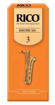 RLA2530 Rico by D'Addario Baritone Sax Reeds, Strength 3, 25-pack
