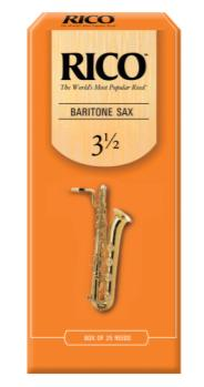 RLA2535 Rico by D'Addario Baritone Sax Reeds, Strength 3.5, 25-pack