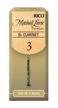 D'addario RMLP5BCL300 Mitchell Lurie Premium Bb Clarinet Reeds, Strength 3.0, 5-pack