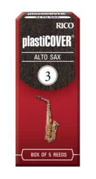 Rico RPAS3 Plasticover by D'Addario Alto Sax Reeds, Strength 3, 5-pack