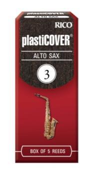 Rico RPAS3 Plasticover Alto Saxophone Reeds, #3, 5-pack