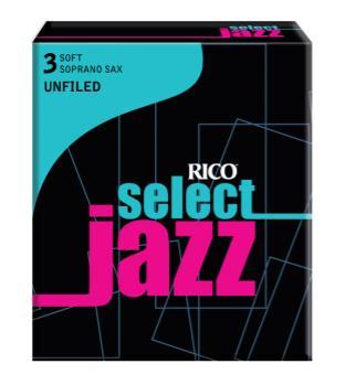 D'Addario RIJSSSU3S Jazz Sel Sop Sax 3 Soft Unfiled Reeds Box