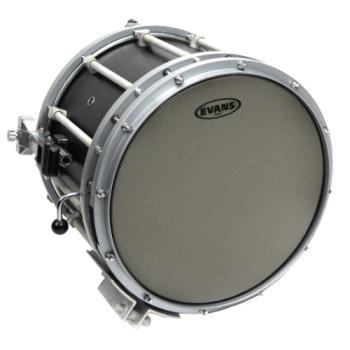 SB14MHG Evans Hybrid Grey Marching Snare Drum Head, 14 Inch