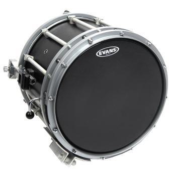 SB14MHSB Evans Hybrid-S Black Marching Snare Drum Head, 14 Inch