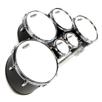 TT06MXW Evans MX White Marching Tenor Drum Head, 6 Inch