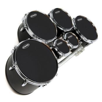 """Evans Drumheads TT12MXB Evans 12"""" Black Marching Tenor"""